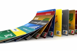 Falling credit cards