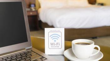 hotel-wifi-desk-laptop-coffee